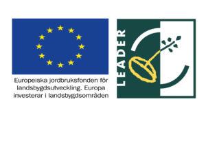 Logotyper Europeiska jordbruksfonden för landsbygdsutveckling och Leader
